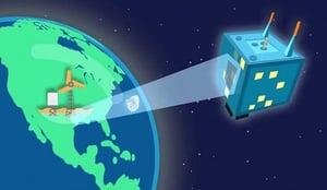 Environmental IoT nanosatellite remote monitoring