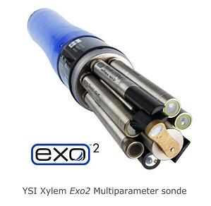 Water quality monitoring multiparameter YSI Xylem EXO2 sonde