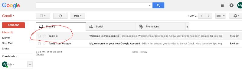 Eagle.io new user account set up email invitation
